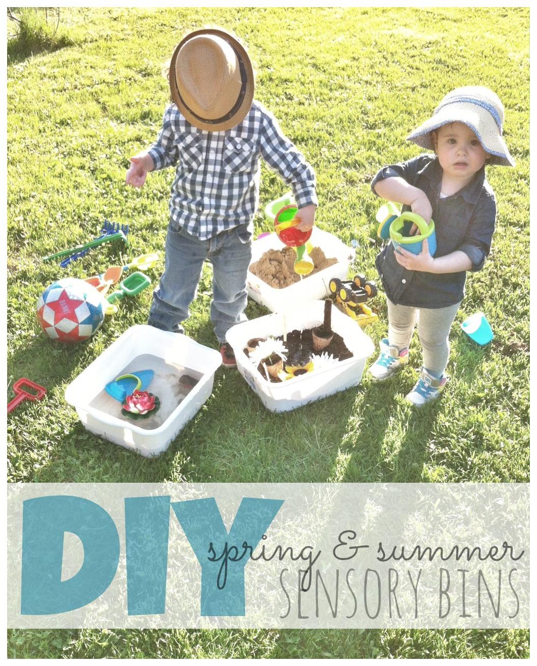 DIY Sensory Bins For Toddlers