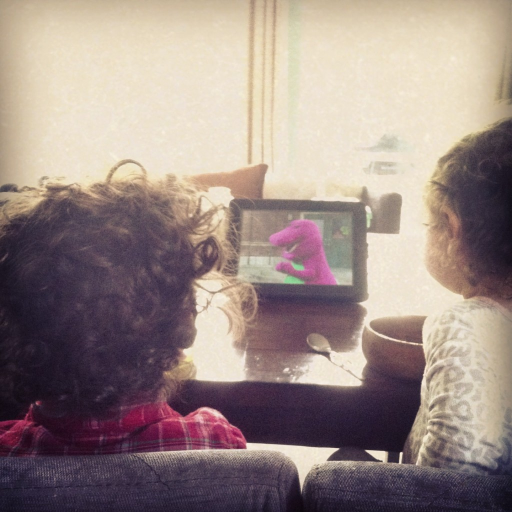 Toddlers Watching Barney