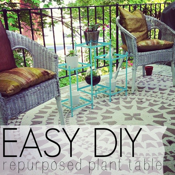 Easy DIY: Repurposed Plant Table