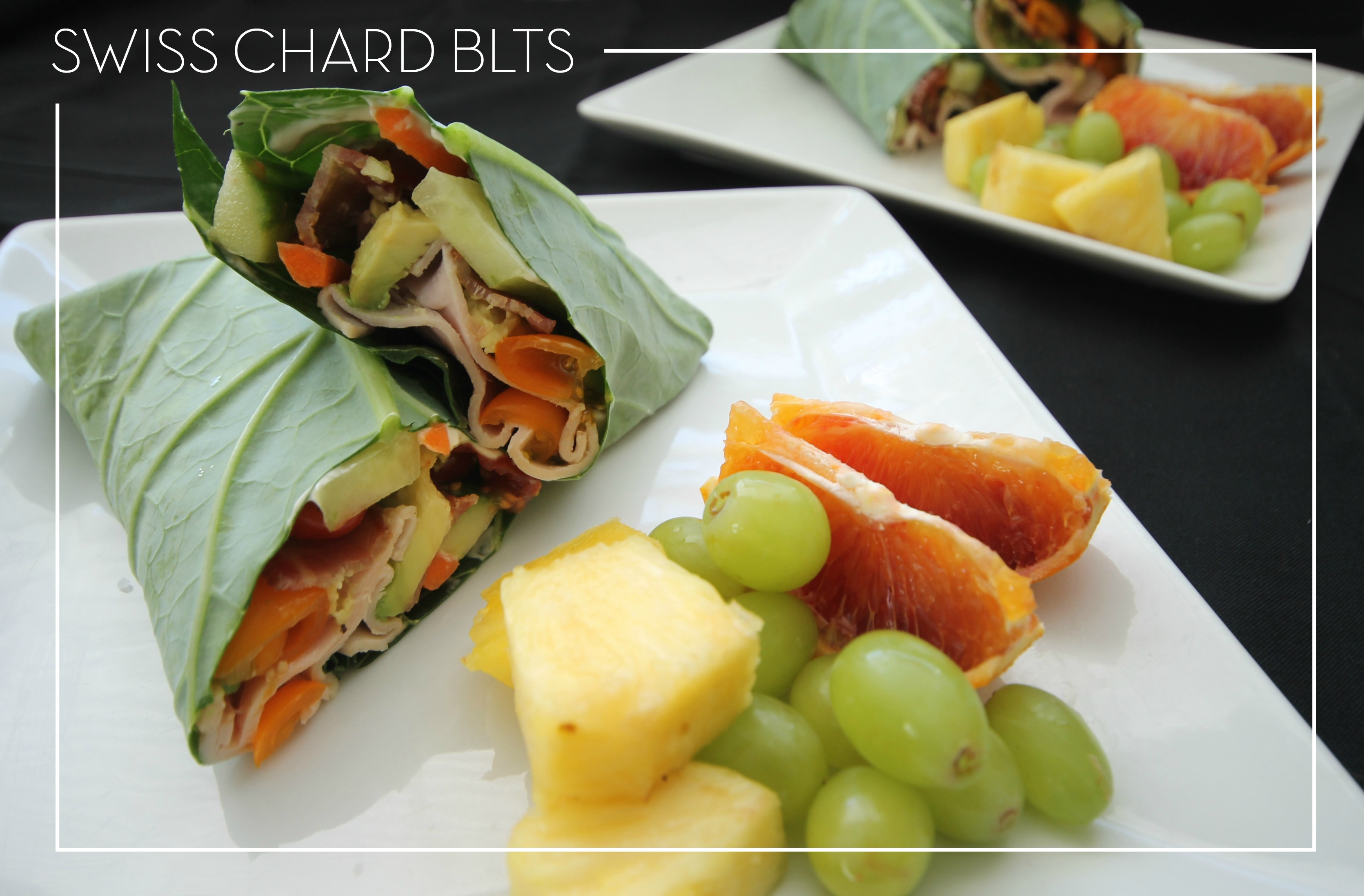 Swiss Chard Paleo Wraps: pin top